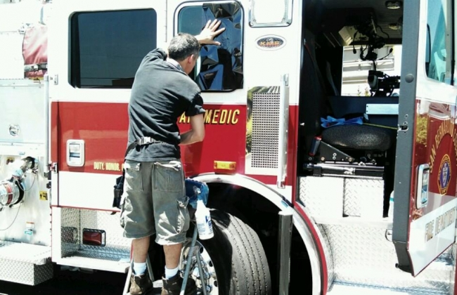 Fire Truck Window Tint Install